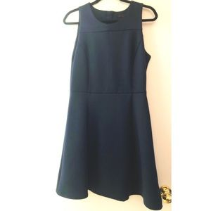 Sleeveless Navy Blue Dress
